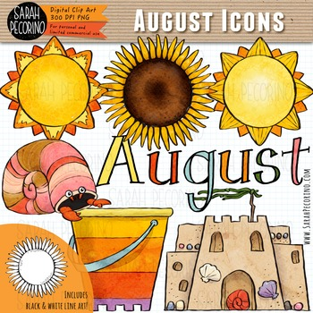 Clip art first edition. August clipart august beach