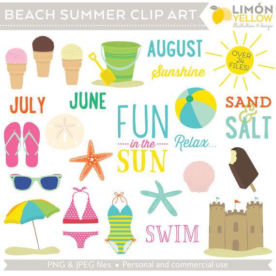 August clipart august beach. Summer clip art royalty