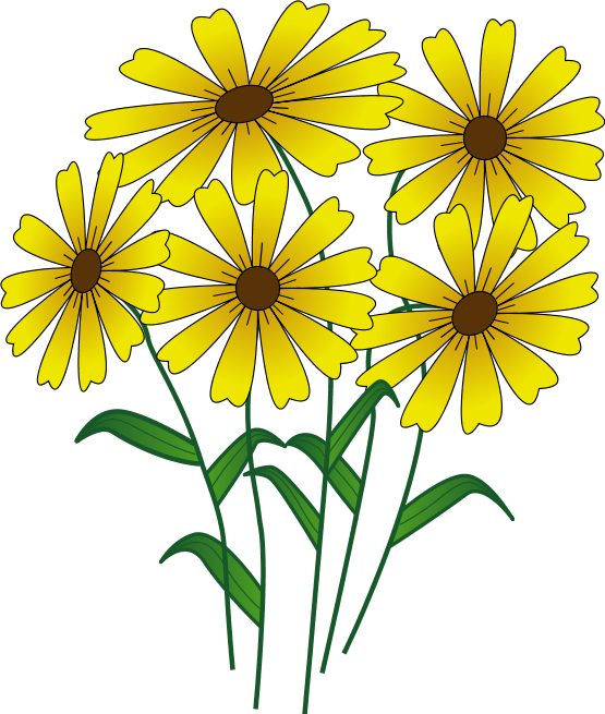 Yellow pencil and in. August clipart august flower
