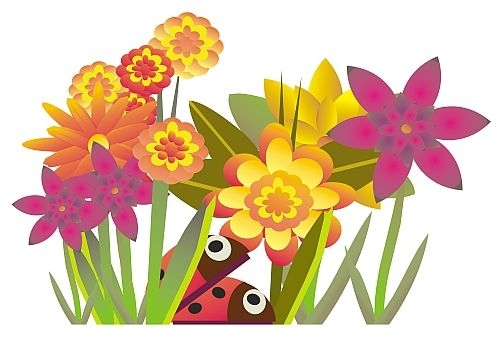 August clipart august flower. Free july flowers clip