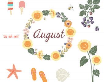 August clipart august september. Clip art for commercial