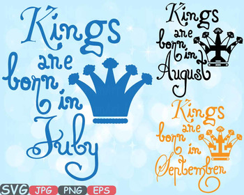 August clipart august september. Kings are born in