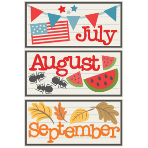 August clipart august september. Cute cliparts free download