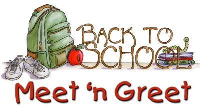 Meet and greet schedule. August clipart back to school