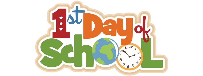 August clipart back to school.  st day of