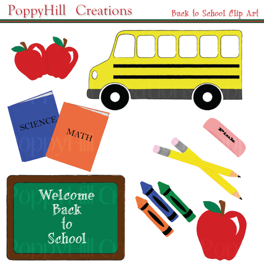 Poppyhill creations i . August clipart back to school