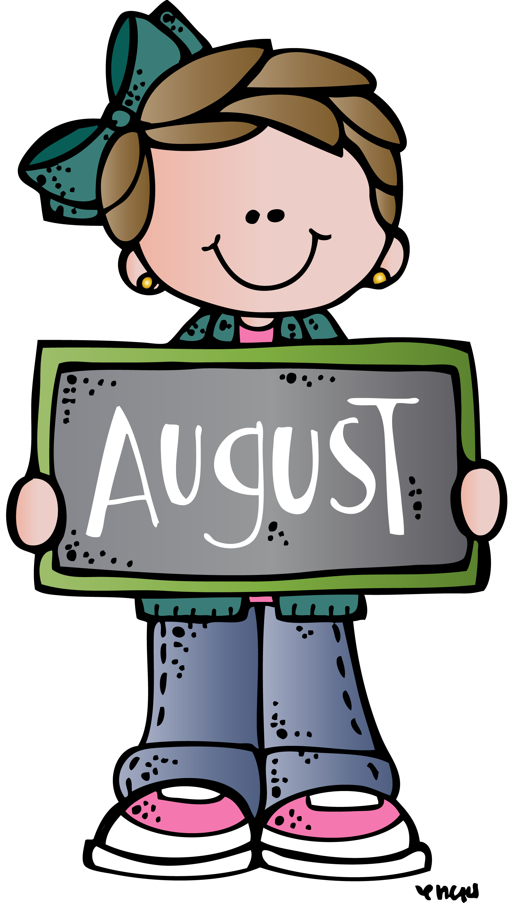Wow clipart first day summer. August mel melonheadz pinterest