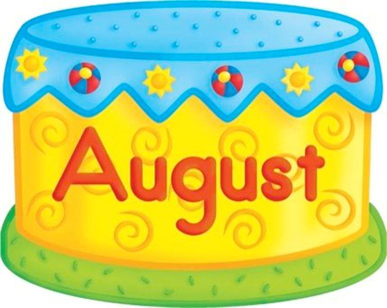 August clipart birthday cake, August birthday cake Transparent ...