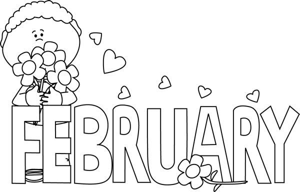February clipart sign. Free august black and