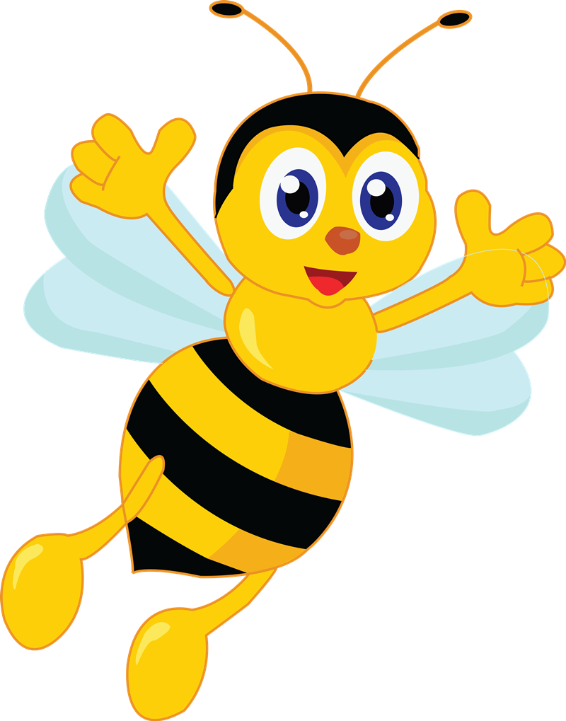 Cartoon bumble clip art. Number 4 clipart bee