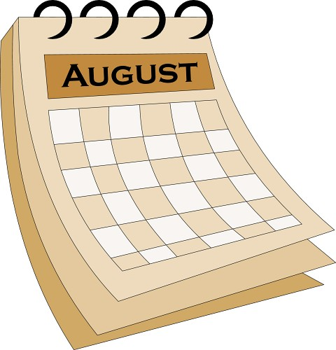 August clipart calendar. Music hatenylo com