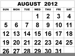 August clipart calendar. Free images at clker