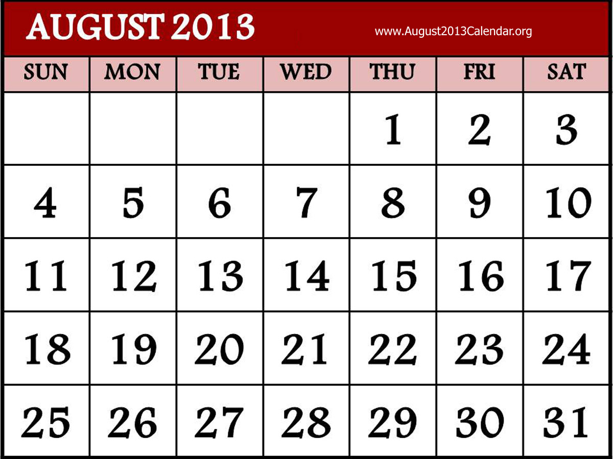 August cliparting com . Calendar clipart kid
