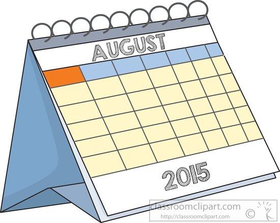 Desk august classroom deskcalendaraugustjpg. Calendar clipart clip art