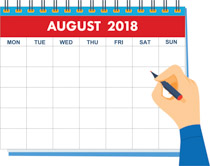 August clipart calendar. Search results for clip