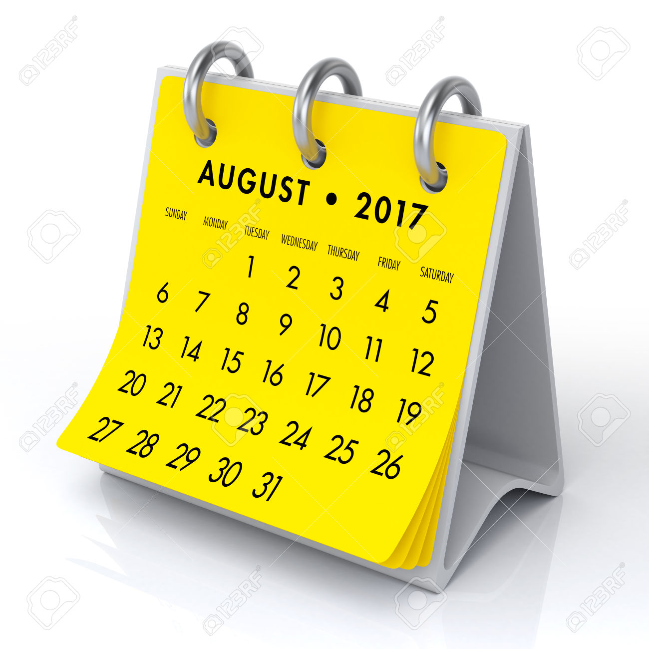 August clipart calendar. Printable template with holidays