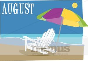 August clipart calendar. Menu graphics