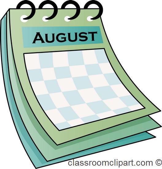Free clip art pictures. August clipart calendar
