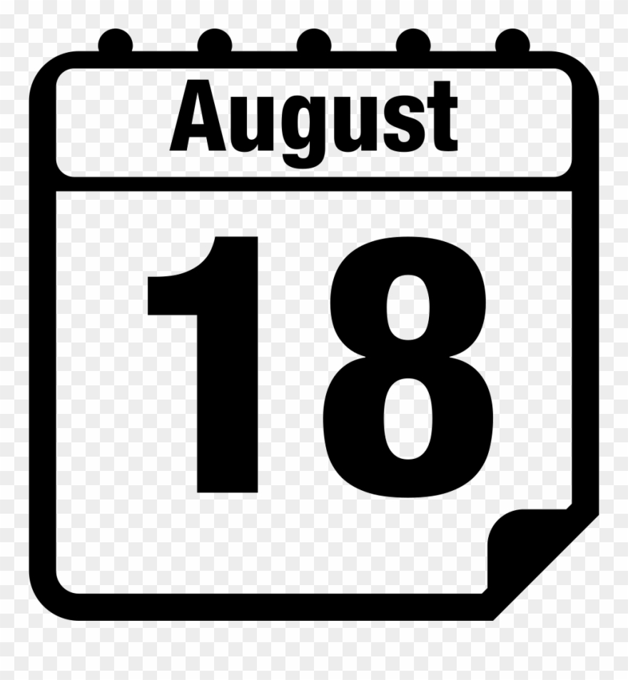 Daily page interface symbol. August clipart calendar