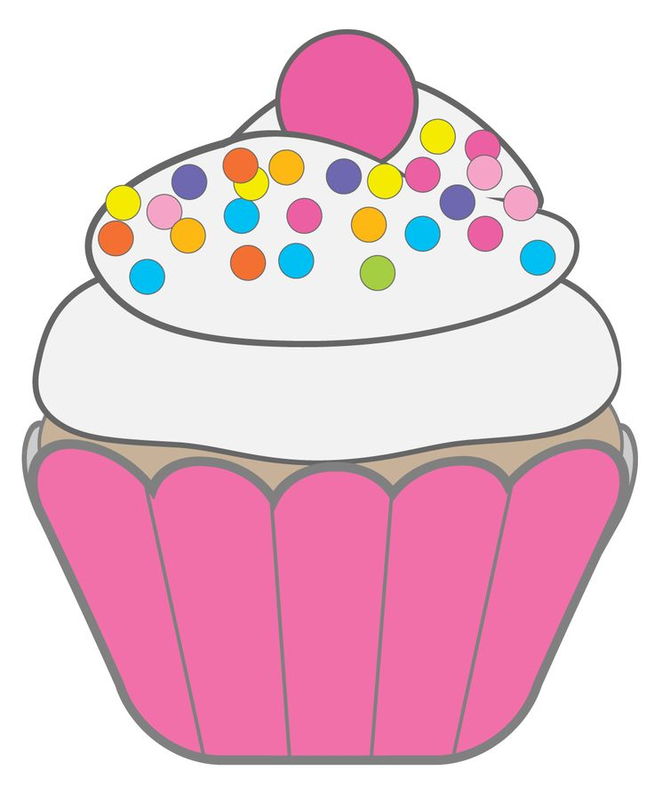 Best cupcake sticker cake. Baked goods clipart auction