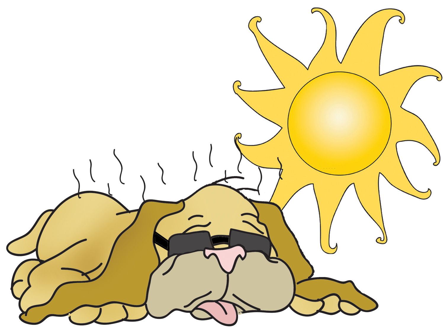 Clipart dogs summer. Dog days of
