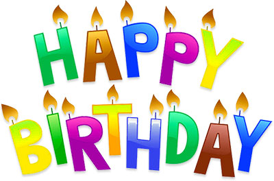 Free animated graphics . Candle clipart happy birthday