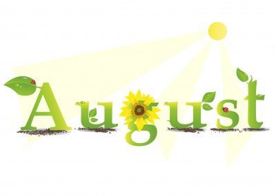 August clipart happy birthday. Vacation home specials and
