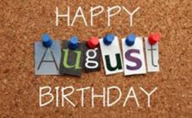 Month free printable images. August clipart happy birthday