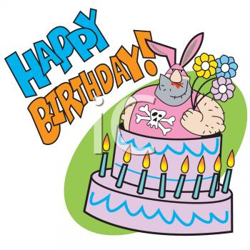 Foto linda funny cake. August clipart happy birthday