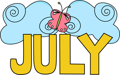 August clipart july month. Clip art images of