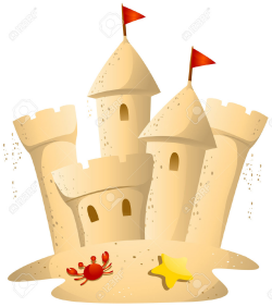 august clipart sand castle