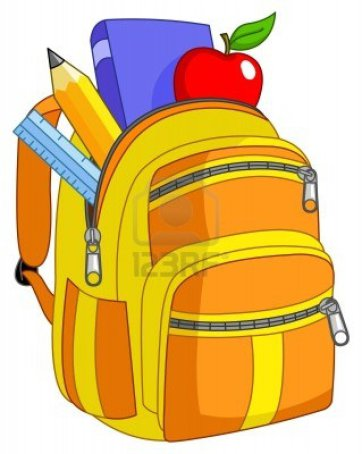 backpack clipart cartoon