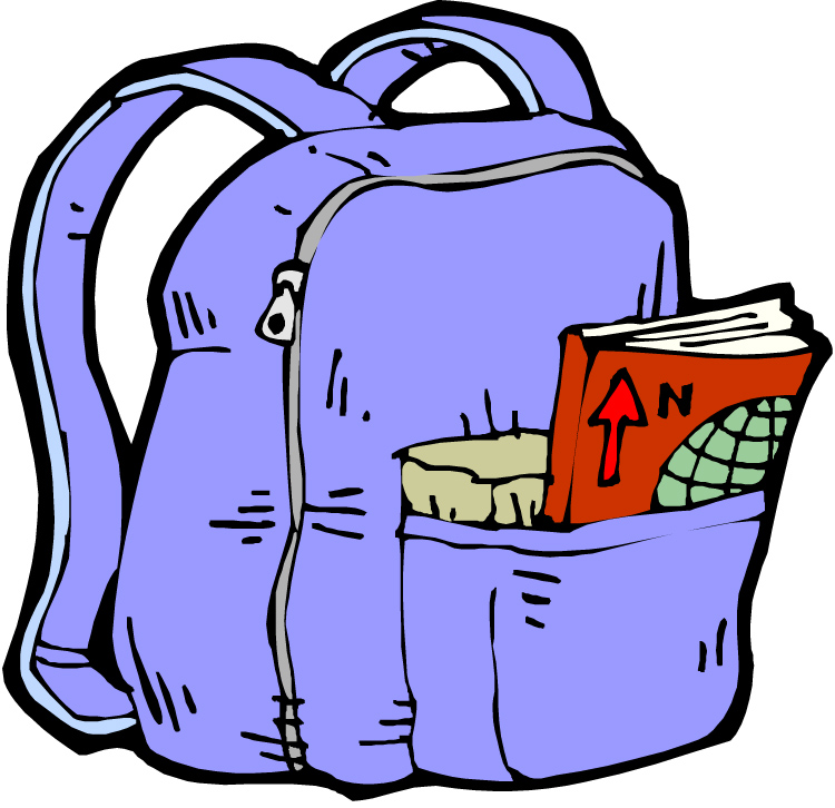 Unpack your mckinley elementary. Bookbag clipart organized backpack