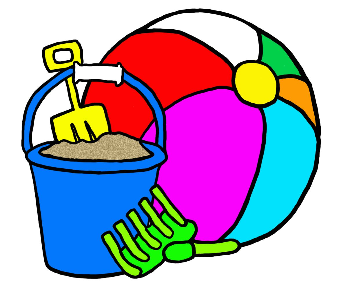 Bucket clipart summer. August google search decorations