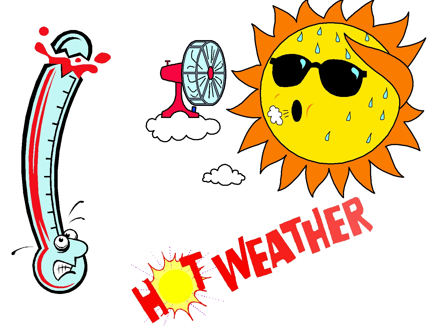 July clipart heat. Free august summer cliparts