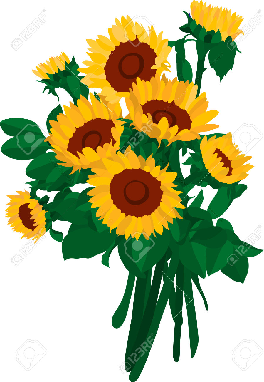 Bouquet clipart sunflower bouquet. Free