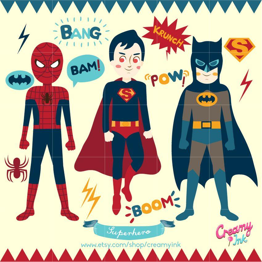 Superhero party digital vector. Batman clipart bubble