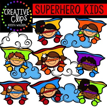 Kids creative clips tpt. August clipart superhero