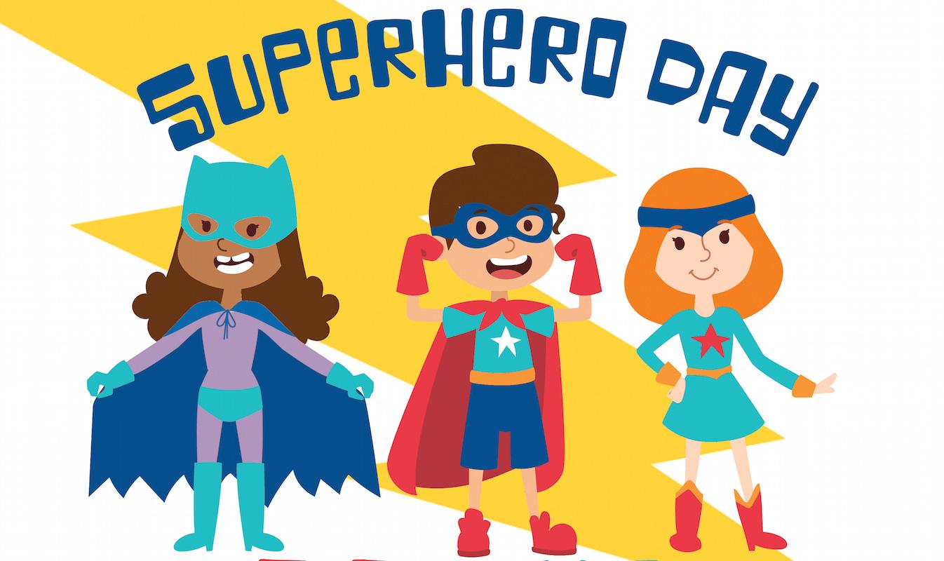 August clipart superhero. Dreamland s academy opens