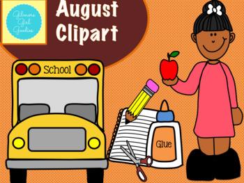 . August clipart teacher