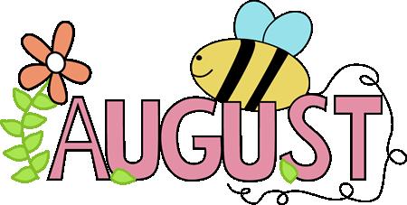 Clip art images month. August clipart teacher
