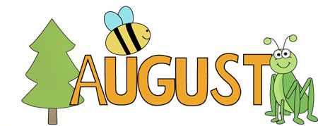 Anniversary clipart month. August nature clip art