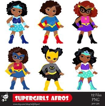 Girls superhero clip art. Aunt clipart african american