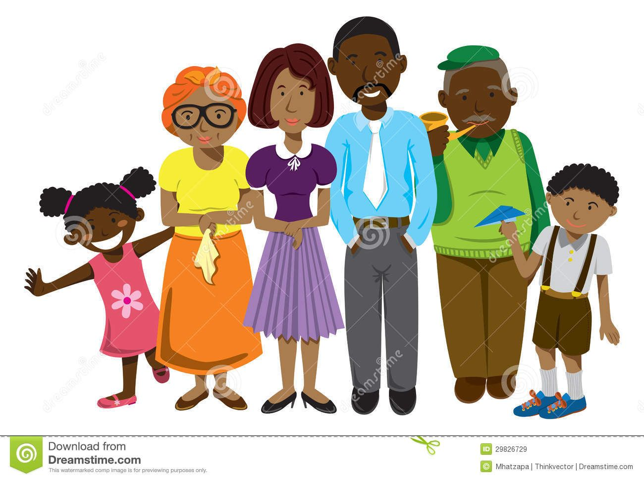 Families clipart african american. Family clip art royalty