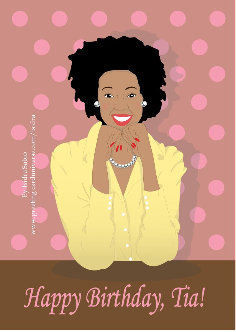 Happy birthday tia auntie. Aunt clipart african american
