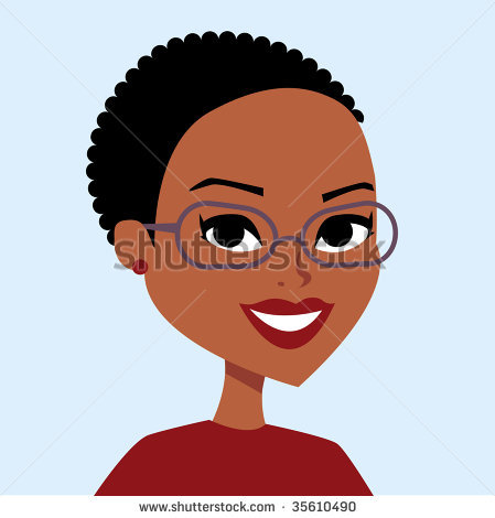 Cartoon group characters girls. Aunt clipart african american