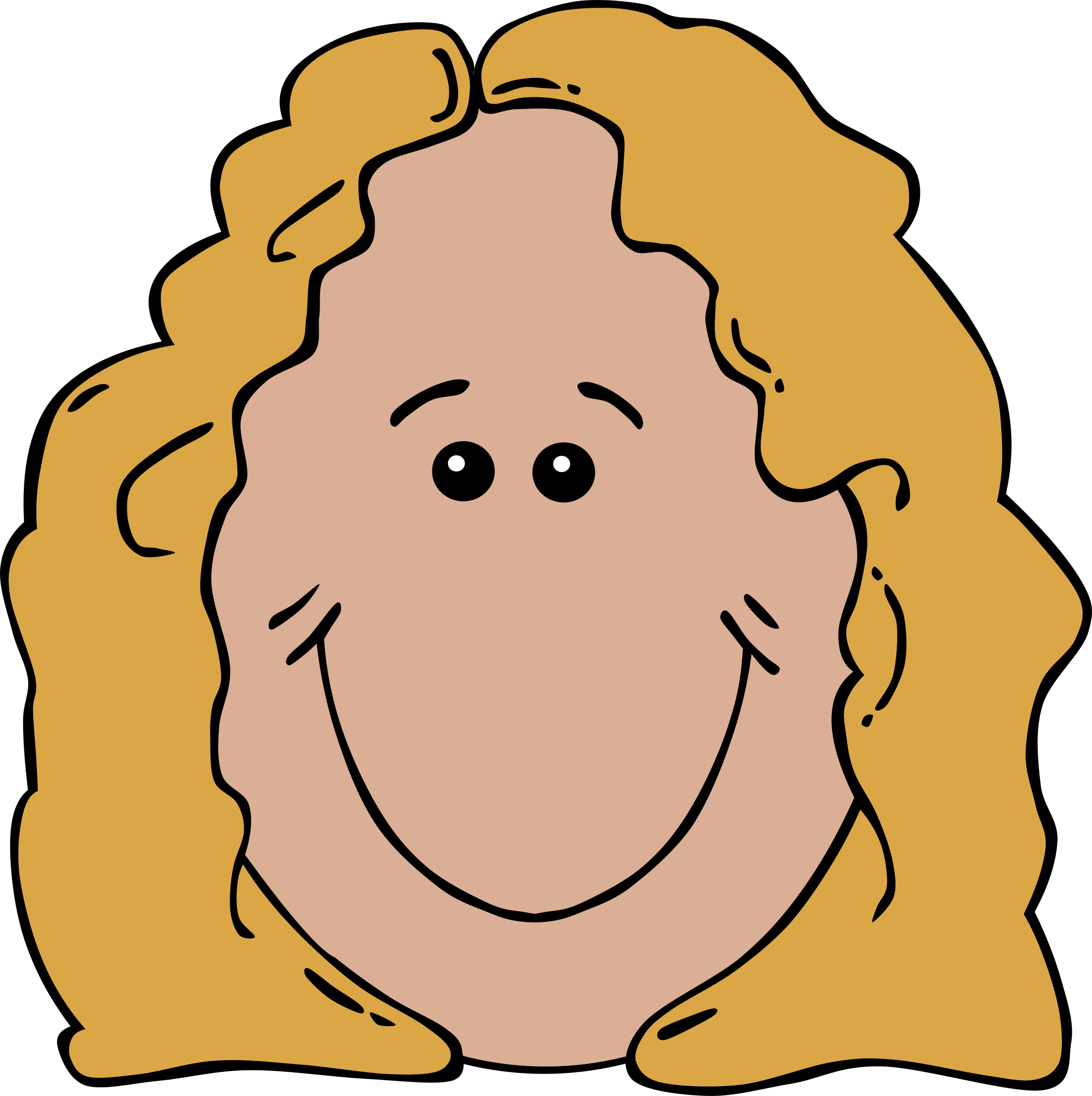 Lady face cartoon big. Aunt clipart animated