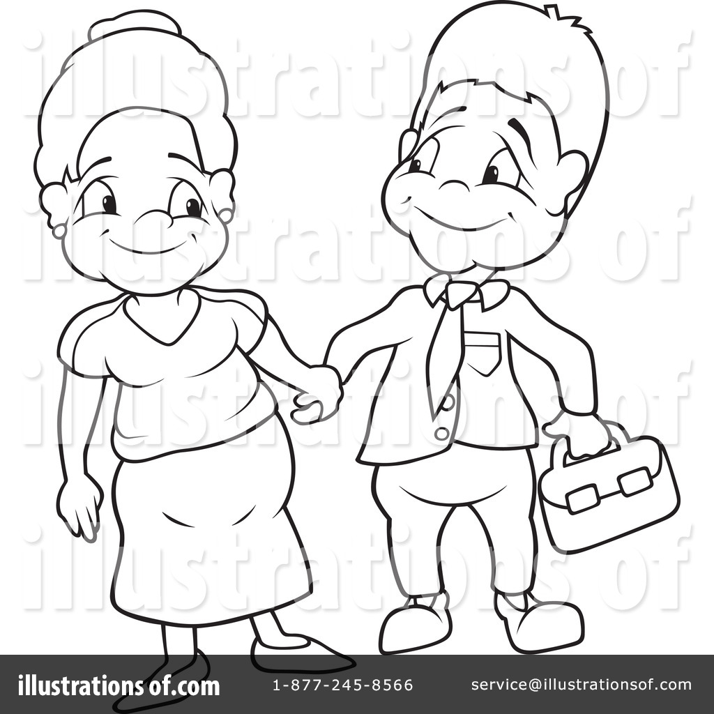 Aunt clipart black and white. Couple illustration by dero