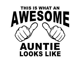 Auntie svg etsy this. Aunt clipart black and white