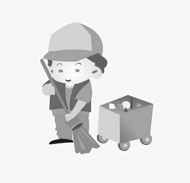 Sanitation workers car auntie. Aunt clipart black and white